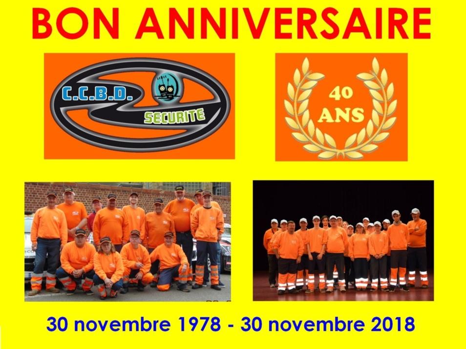 C.C.B.D. Sécurité Dinant fête ses 40 ans d'existence, ce vendredi 30 novembre 2018